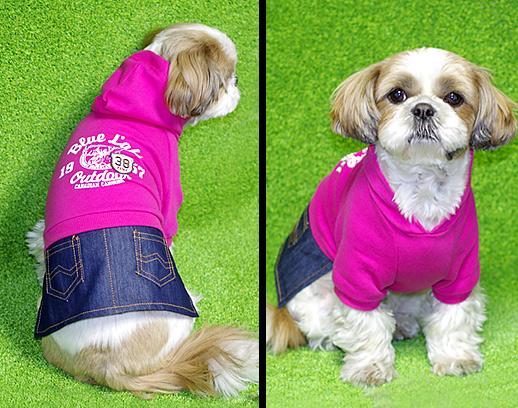 デニムスカート♪犬用パーカー