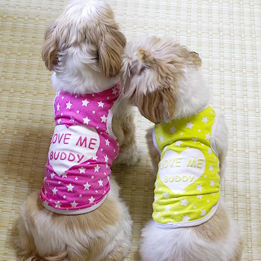 ハートのLove me buddyタンクトップ(犬の服・ドッグウェア)